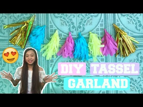 DIY Tassel Garland Room Decor  | Diosem Lleyd