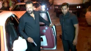 Sanjay dutt's grand entry from rolls royce car at ekta kapoor's diwali party 2017