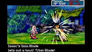 What happens when you defeat Saturos and Menardi in Golden Sun? (Vale)