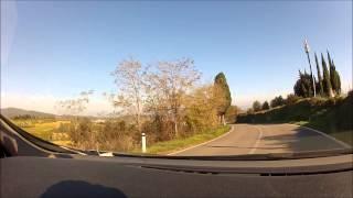Um passeio de carro pela Toscana, Italia