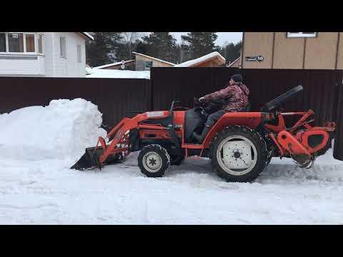 Mini Traktor Кубота в минус 16 на летней солярке