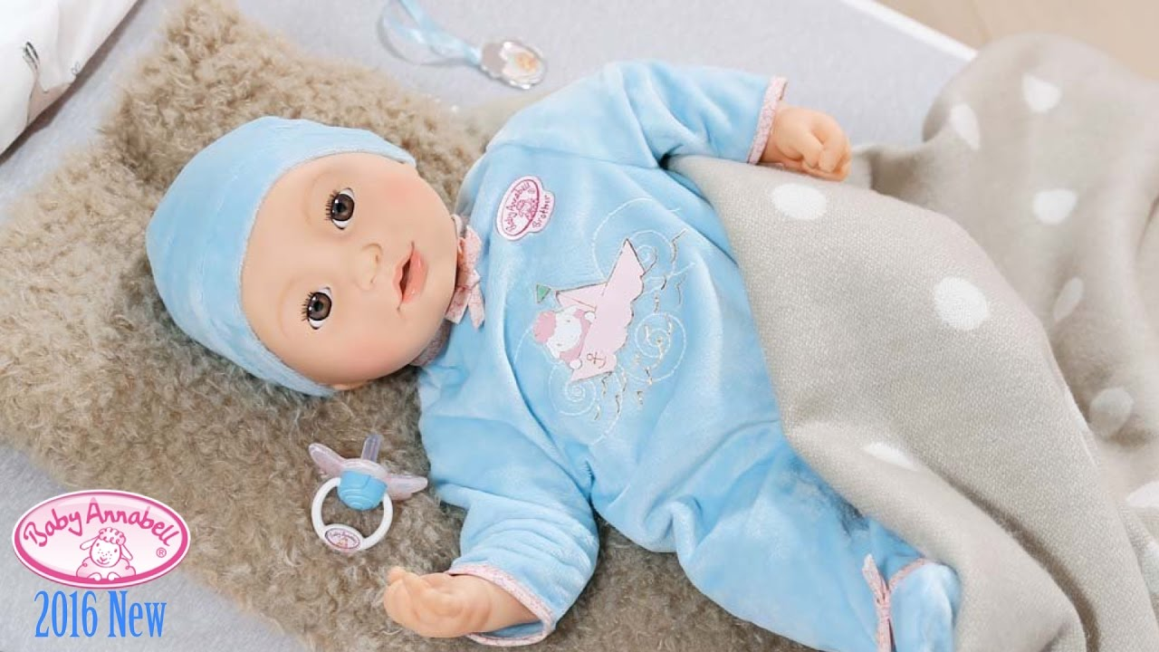 Baby Annabell Brother Boy Baby Doll Cries Tears and Sleep like Real Baby - YouTube & Baby Annabell Brother: Boy Baby Doll Cries Tears and Sleep like ...