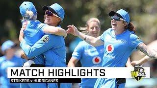 Strikers defend 113 in thrilling finish against Hobart | Rebel WBBL|05