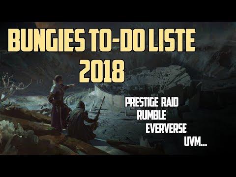 Destiny 2 : Bungie's To-Do Liste 2018 - Rumble | Eververse | Prestige Trakt