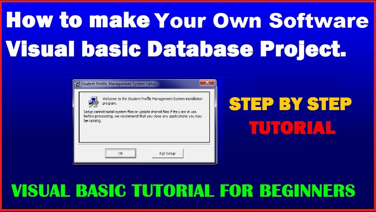 Visual Basic Tutorial | How to Make your own software of Visual Basic  Database Application