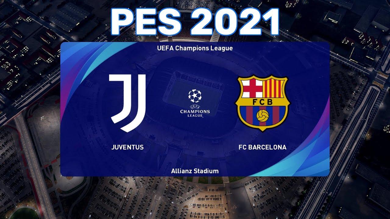 PES 2021 gameplay   Game 16   Juventus vs FC Barcelona ...