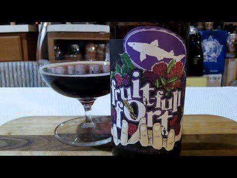 DogFish Head Fruit-Full Fort (18.0% ABV) DJs BrewTube Beer Review #1184