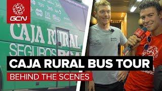 Caja Rural Team Bus Tour   Behind The Scenes At La Vuelta a España
