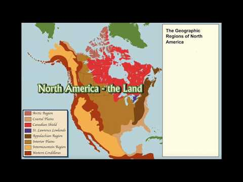 OSBC - Physical Regions Of North America.