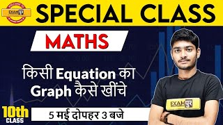 SPECIAL CLASS || MATHS ll BY Manak Anand sir | किसी Equation का Graph कैसे खींचे || LIVE@ 3 PM