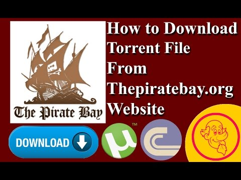 How to Download Torrent File From Thepiratebay org Web site | How to Video | How to Uncle Video