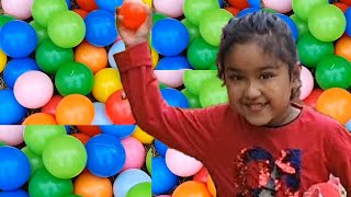 Ishfi and Daddy Play with Ball pit , lets see who wins