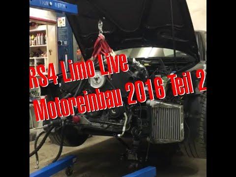 Hannover Hardcore RS4 Limo Motoreinbau Facebook Live Teil 2 2016 Philipp Kaess