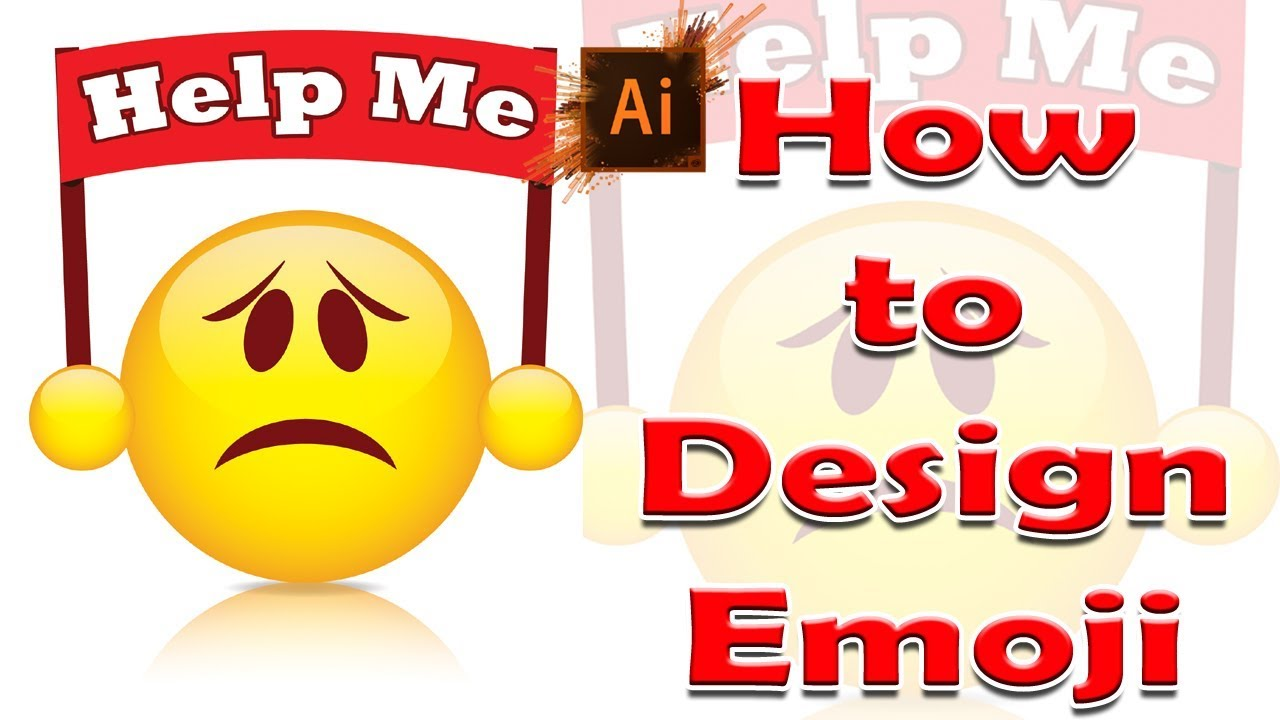 learn how to draw the facebook help emoji in adobe illustrator