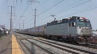 midday nj transit and amtrak trains at jersey avenue part 2 njt veterans alp 46a 4635