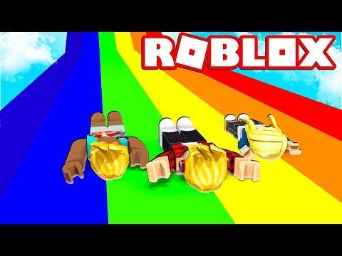 WYŚCIG NA OGROMNEJ ZJEŻDŻALNI 😱 | ROBLOX - Slide DOWN a ramp and survvive!