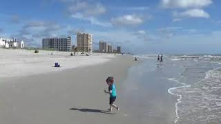 Family fun on the beach in Jacksonville Florida.