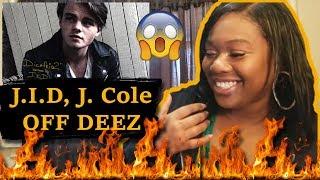 😱HE IS NEXT UP🔥 Mom reacts to J.I.D, J. Cole - Off Deez (Audio) ft. J. Cole   Reaction