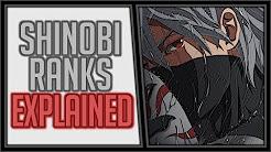 Explaining the Ninja Ranks in Naruto