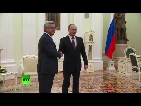 Владимир Путин провел встречу с президентом Армении в Кремле