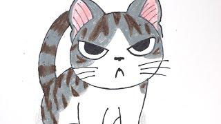 How to draw Kitten #004 (Chi's Sweet Home) 치즈 스위트홈 치(고양이) 손그림 그리기  チ-ズスイ-トホ-ム