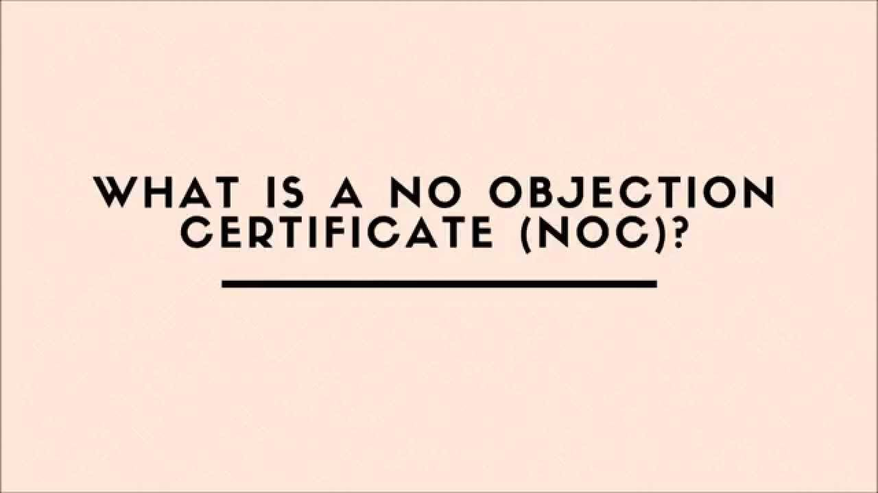 What Is A No Objection Certificate NOC YouTube – Noc No Objection Certificate