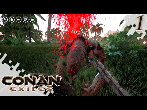 CONAN EXILES - Getting Started! - EP01 (Gameplay)