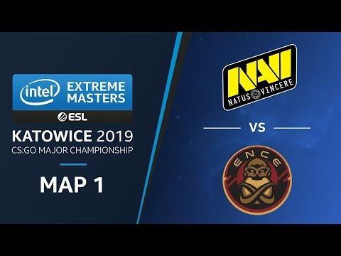 CS:GO - NaVi Vs. ENCE [Train] Map1 - Semifinals - Champions Stage - IEM Katowice 2019