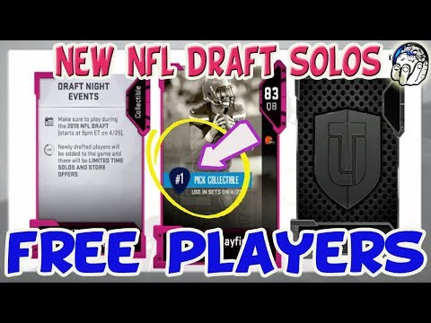 EA Updates NFL Draft Cards To Auctionable NEW Way To Make FREE MUTCoins NEW Solos In Madden 19