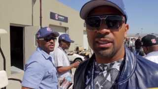 Mike Epps visits Marco Andretti at the Indianapolis 500