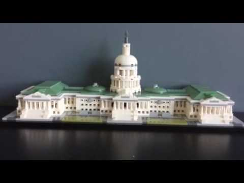 Lego Architecture United States Capital Building FULL SET AND REVIEW