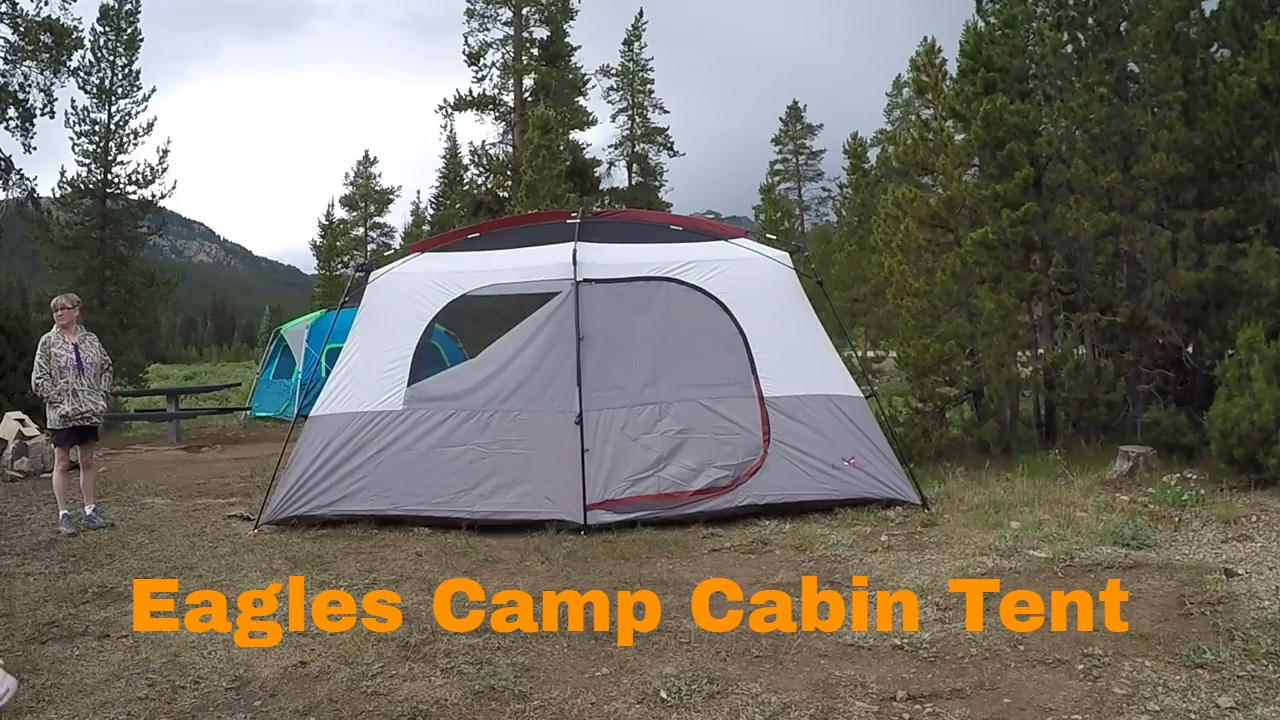 Eagles C& Cabin Tent (10 Person) 14x10 - First Setup & Eagles Camp Cabin Tent (10 Person) 14x10 - First Setup - YouTube