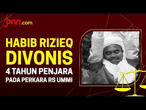 Habib Rizieq Divonis 4 Tahun Penjara, Lebih Ringan dari Tuntutan Jaksa