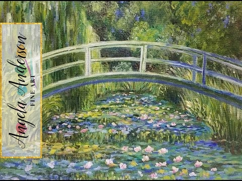 Monet Waterlilies Bridge (Part 1) Impressionist Acrylic Pain