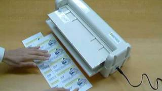 Electric Business Card Cutter Demonstration Video