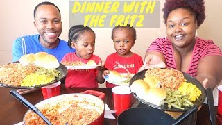 SPAGHETTI MUKBANG (Eating Show) | DINNER WITH THE FRITZ | FRITZ FAMILY ENTERTAINMENT