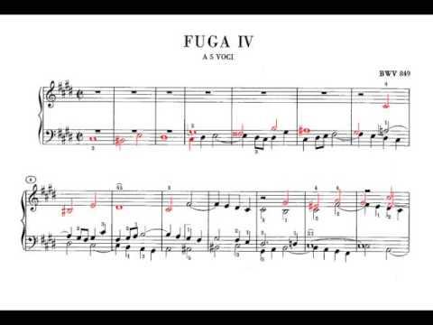 Bach: WTC1 No. 4 in c sharp minor BWV 849 (Richter)