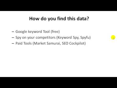Basic keyword research to find customers