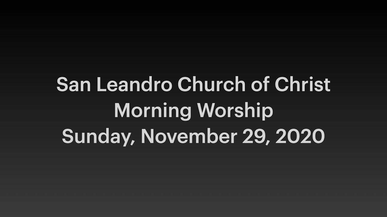 November 29, 2020 Morning Worship