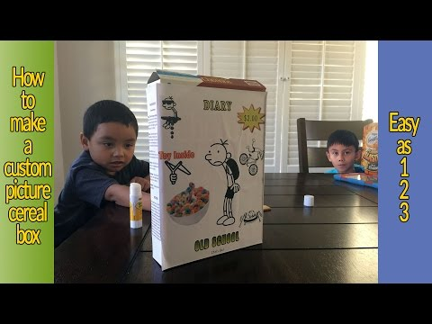 How To Make A Custom Picture Cereal Box
