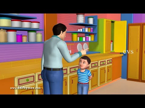 Johny Johny Yes Papa Poem - 3D Animation English Nursery rhyme for children with lyrics