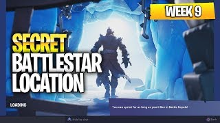 "Fortnite Battle Royale Season 7 Week 9 Secret Battlestar Location (""Snowfall"" Challenges)"
