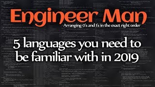 5 programming languages you need to be familiar with in 2019
