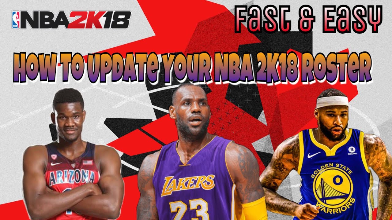 Get Updated NBA 2K19 Rosters On NBA 2K18 WITH FREE AGENCY