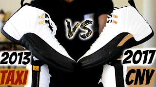 2013 Taxi vs. 2017 Chinese New Year Jordan 12 Comparison / Which 1 do you choose? 3m or Leather?