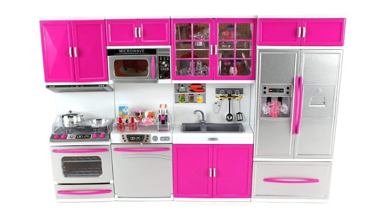 Modern Kitchen Toy Set for Kids I Battery Operated Modern Kitchen Set with  Light & sound
