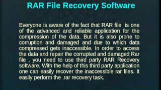 RAR File Recovery Software Review