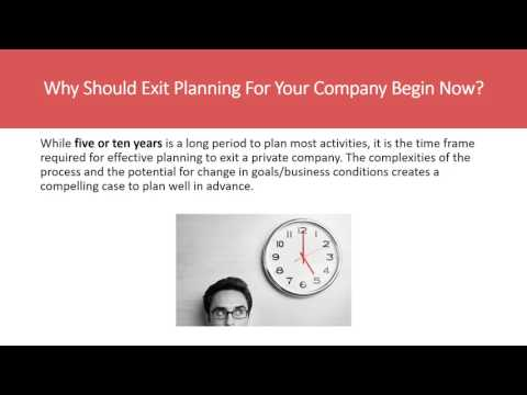 Exit Planning For Private Business Owners – An Investment Ba
