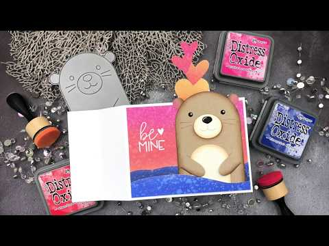 Interactive Cards By Jess: Be Mine Otter Wiper Card