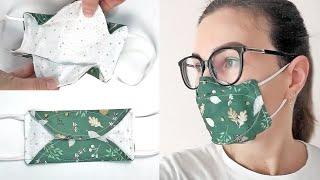 Новая маска в которой НЕ ПОТЕЮТ ОЧКИ Маска для лица из ткани своими руками